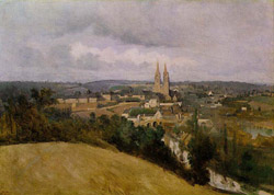 Saint-Lô, by Corot (1850-55)