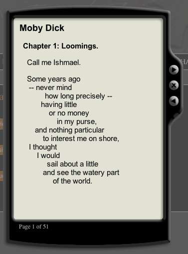 moby dick loomings Moby-dick or, the whale is a novel by american writer herman melville balancing chapters are chapters of opposites, such as loomings versus the epilogue, or similars, such as the quarter-deck and the candles [9.