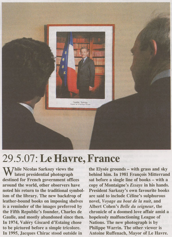 sarkozy at his library