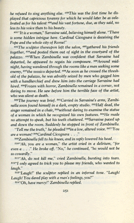 a scan of p. 251 of s/z by roland barthes in the translation of richard miller